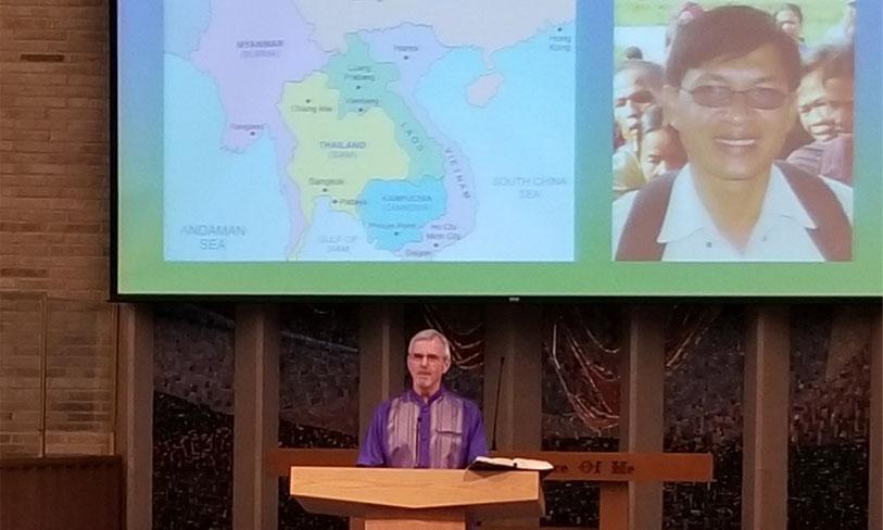 Mike preaching CCM
